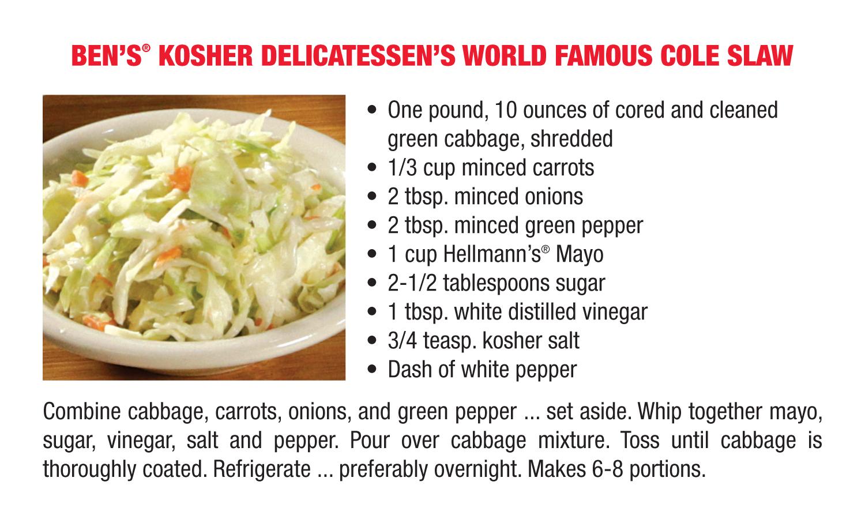 Ben's World Famous Cole Slaw Recipe