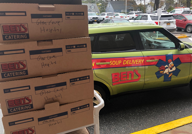 Ben's Delivers To Health Care Responders