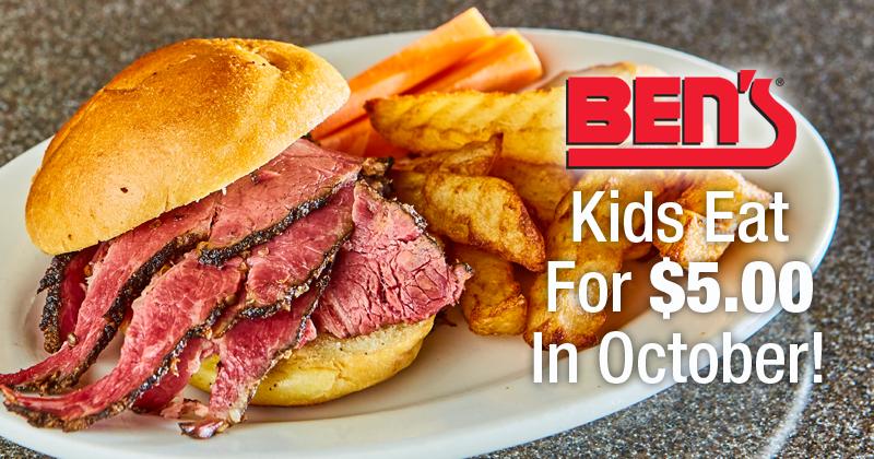 Kids Eat for $5 In October!