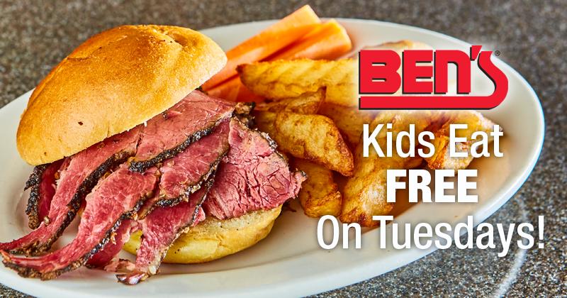 Kid's Eat FREE on Tuesdays at Ben's!