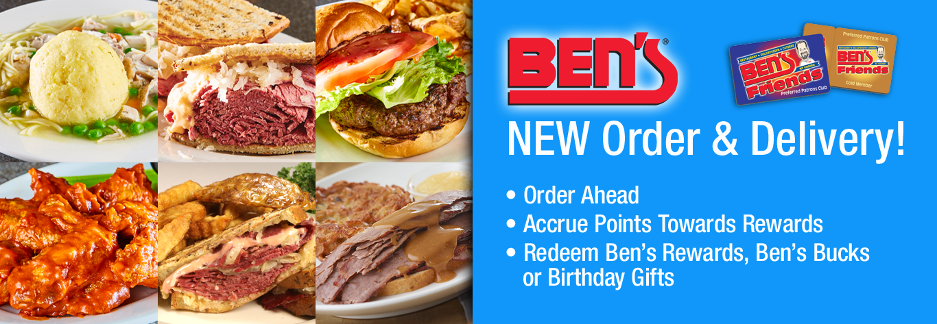 Ben's NEW Online Delivery Ordering System