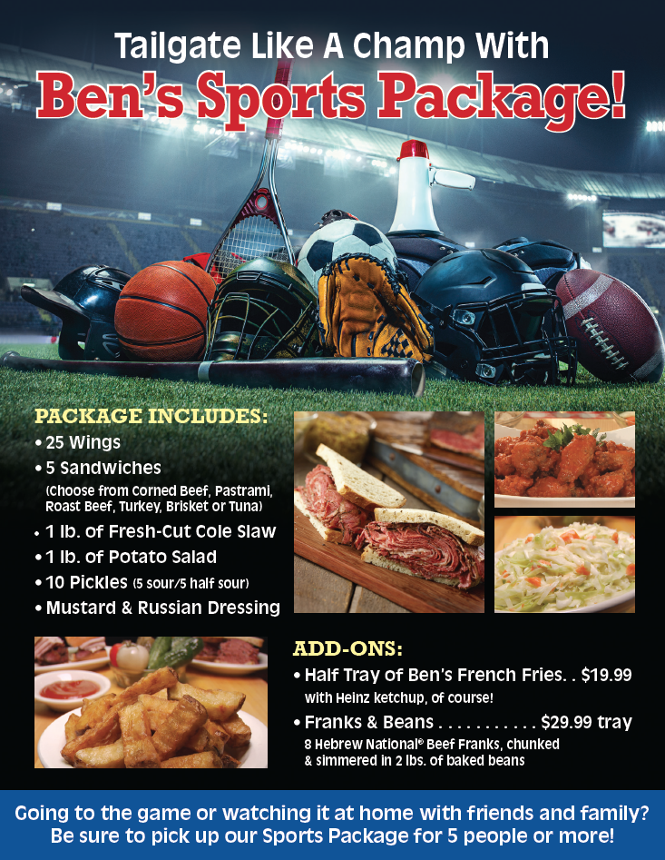 Tailgate Like A Champ With Ben's Sports Package