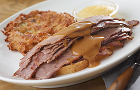 Ben's Open Faced Brisket Sandwich with Gravy