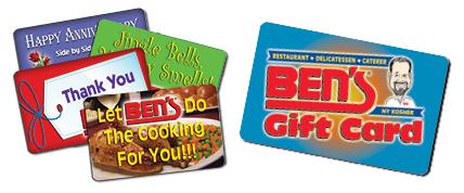 Ben's eGift & Gift Cards! Purchase Online!