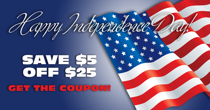 Ben's July 4th Save $5 Off $25 Coupon