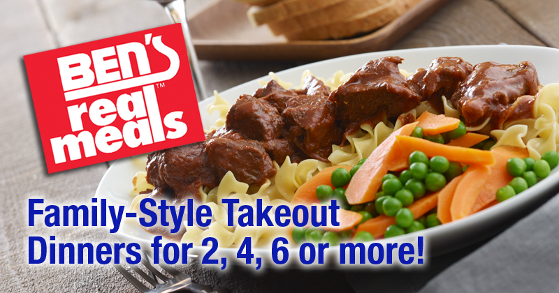 Ben's Real Meals Family-Style Takeout Dinners