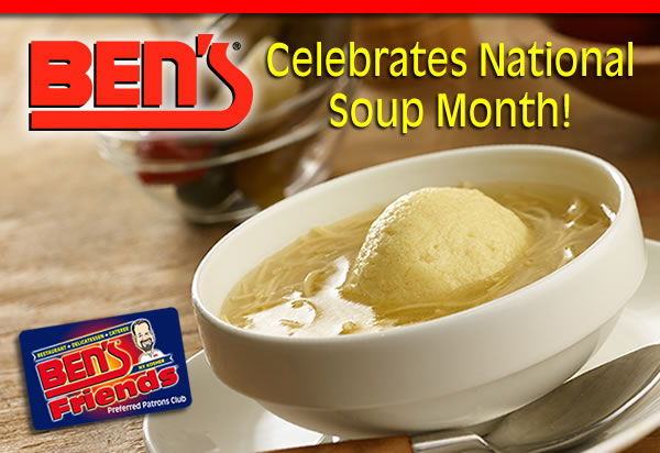 Ben's Celebrates National Soup Month With Double Points!