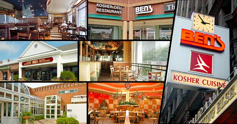 Ben's has 7 locations serving Manhattan, Queens, Long Island, Westchester and Florida